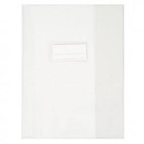 Paquet de 10 protèges-cahier épaisseur 21/100ème 17x22cm PVC cristal incolore