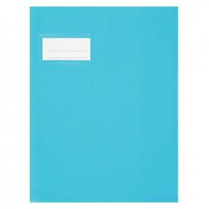 Paquet de 10 protèges-cahier épaisseur 21/100ème 17x22 cm PVC bleu clair