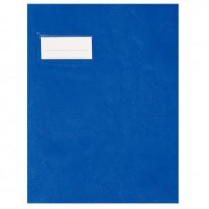 Paquet de 10 protèges-cahier épaisseur 21/100ème 17x22 cm PVC bleu