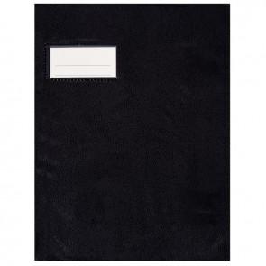 Paquet de 10 protèges-cahier épaisseur 21/100ème 17x22 cm PVC noir