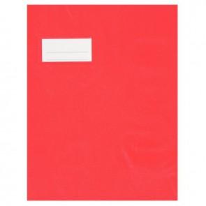 Paquet de 10 protèges-cahier épaisseur 21/100ème 17x22 cm PVC rouge