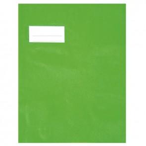 Paquet de 10 protèges-cahier épaisseur 21/100ème 17x22 cm PVC vert