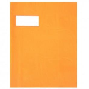 Paquet de 10 protèges-cahier épaisseur 21/100ème 17x22 cm PVC orange