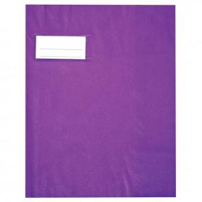 Paquet de 10 protèges-cahier épaisseur 21/100ème 17x22 cm PVC violet