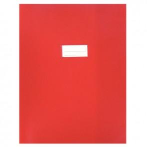 Paquet de 10 protèges-cahier épaisseur 21/100ème 24x32cm PVC rouge