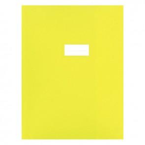 Paquet de 10 protèges-cahier épaisseur 21/100ème 24x32cm PVC jaune
