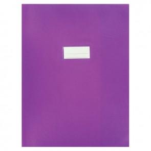 Paquet de 10 protèges-cahier épaisseur 21/100ème 24x32cm PVC violet