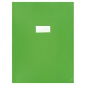 Paquet de 10 protèges-cahier épaisseur 21/100ème 24x32cm PVC vert