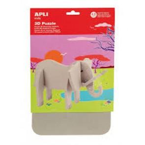 """Puzzle 3D mousse caoutchouc """" Elephant"""""""