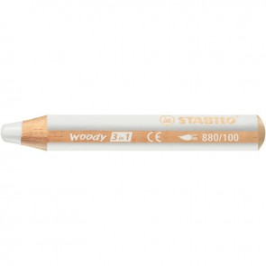 Crayon de couleur Woody blanc