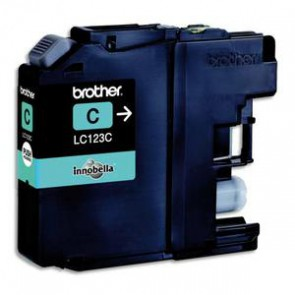 BROTHER Cartouche jet d'encre cyan LC123