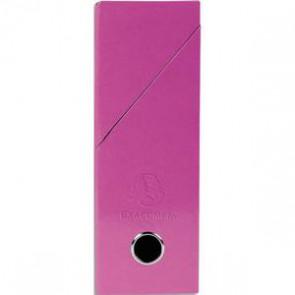 EXACOMPTA Boîte de transfert Iderama, carte lustrée pelliculée, dos 9,5 cm, 34x26 cm, coloris rose