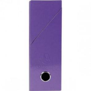 Boîte de transfert carte lustrée pelliculée, dos 9,5 cm. 34 x 26 cm. violette