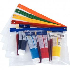 """Paquet de 5 pochettes fourre-tout """"ZIPPA BAG"""" format A4++"""