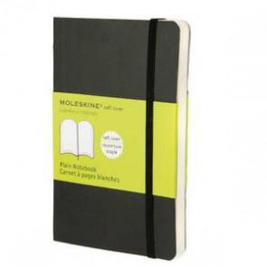 MOLESKINE Carnet de note couverutre souple 9x14cm 192 pages unies blanches. Coloris noir