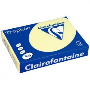 Ramette de 500 feuilles de papier 80g de format A4 canari TROPHEE CLAIREFONTAINE