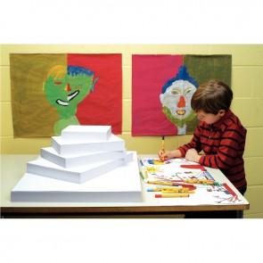 Paquet de 25 feuilles de papier dessin blanc 90 g format 50 x 65 cm