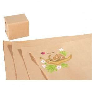 Paquet de 25 feuilles 100x70 cm papier Kraft Brun 60 g