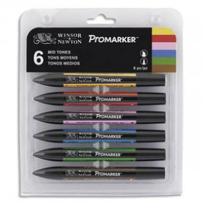 6 marqueurs double pointe PROMARKER