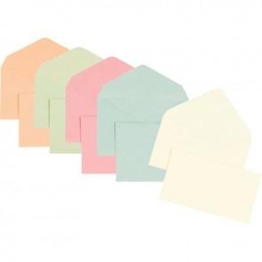 Boîte de 1000 enveloppes couleurs assortie élection recyclées 90x140 75 g/m²