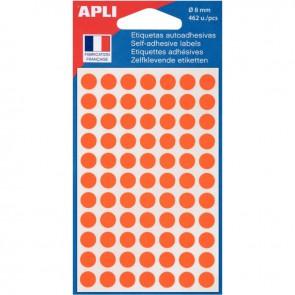 Sachet de 462 pastilles adhésives diamètre 8 mm orange