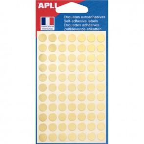 Sachet de 308 pastilles adhésives diamètre 8 mm or