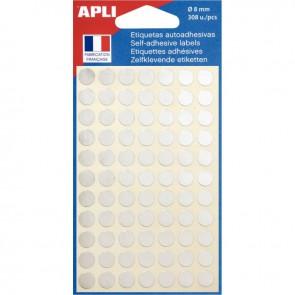 Sachet de 308 pastilles adhésives diamètre 8 mm argent
