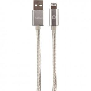 Cordon tressé en nylon USB 2.0 vers Lightning longueur 1,2 mètre silver