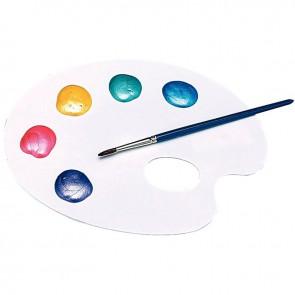 Palette en plastique forme ovale 1 trou