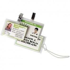 Boîte de 100 pochettes de plastification badge/carte de crédit 64x95mm 125 microns