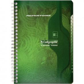 Répertoire à reliure intégrale 180 pages, format 14,8 x 21 cm, quadrillé 5x5