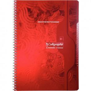Répertoire à reliure intégrale 180 pages, format 21 x 29,7 cm, quadrillé 5x5