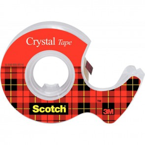 Rouleau Scotch Crystal transparent 19 mm x 7,5 m avec dévidoir