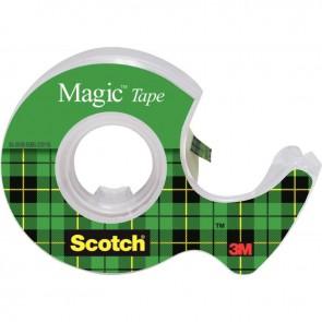 Rouleau adhésif invisible Scotch Magic sur dévidoir dimensions : 19 mmx7,5m