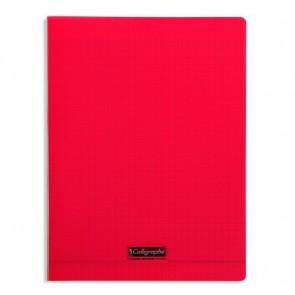 Liste scolaire : cahier 24x32 cm 140 pages en 90g. couverture Polypro rouge REF. 18293 Clairefontaine