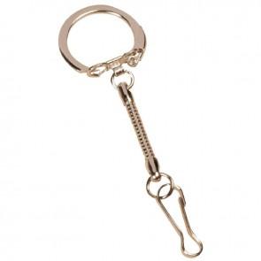 Sachet de 10 attaches porte clefs nickelées + mousquetons