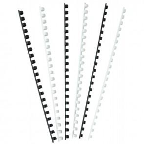 boîte de 100 anneaux à relier/peignes à relier diamètre 8 mm  blanc