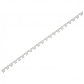boîte de 100 anneaux à relier/peignes à relier diamètre 10 mm  blanc