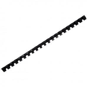 Boîte de 100 anneaux à relier/peignes à relier diamètre 12 mm noir