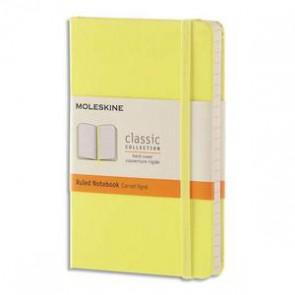MOLESKINE Carnet 192 pages ligné format Pocket 9x14.Couverture rigide jaune citron