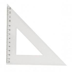 équerre plastique hypoténuse de 21 cm 45° 2 angles 45° et un à 90°
