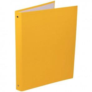 Classeur plastifié 4 anneaux dos 20 mm coloris jaune
