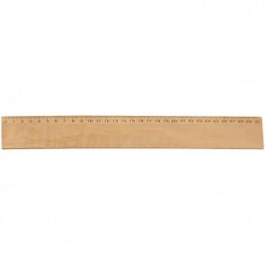 Règle plate de 30 centimètres, largeur de 4 centimètres en bois
