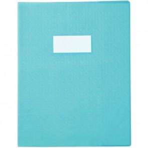 Paquet de 30 protège-cahiers grain 10/100ème format 17 x 22 cm coloris bleu ciel