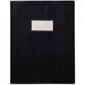Paquet de 30 protège-cahiers grain 10/100ème format 17 x 22 cm coloris noir