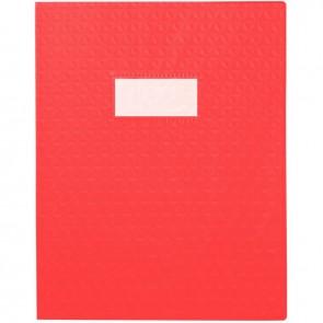 Paquet de 30 protège-cahiers grain 10/100ème format 17 x 22 cm coloris rouge
