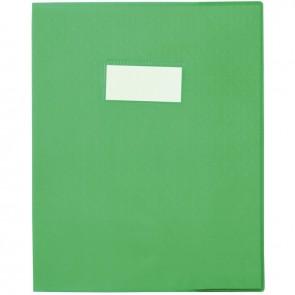 Paquet de 30 protège-cahiers grain 10/100ème format 17 x 22 cm coloris vert