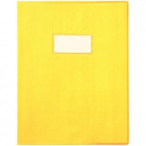 Paquet de 30 protège-cahiers grain 10/100ème format 17 x 22 cm coloris jaune