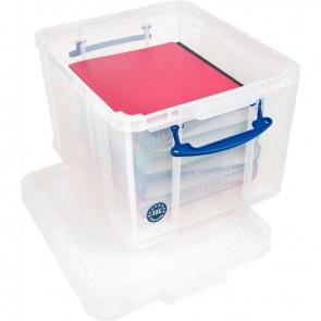 Boite de rangement de 35 litres transparent