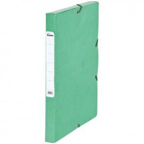Boîte de classement en carte grainée, dos de 25 mm, coloris vert